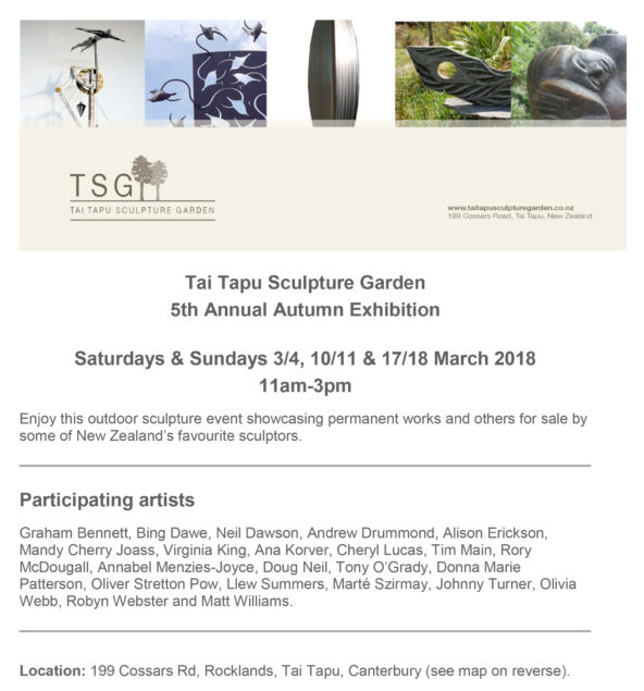 Tai Tapu invitation March 2018